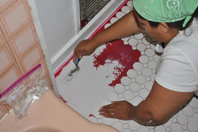 Tiling Bathroom Floor (6)